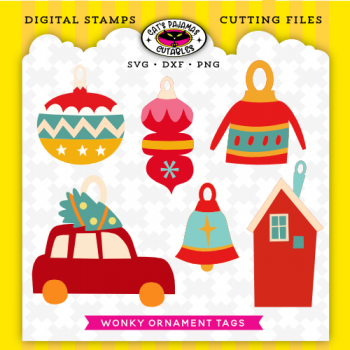 Wonky Ornament Tags