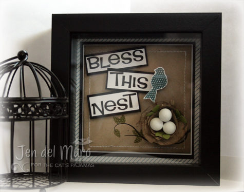 Bless This Nest Shadowbox