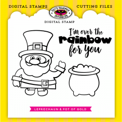 Leprechaun & Pot of Gold Digi